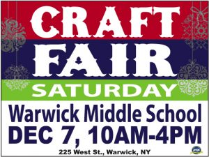 WVMS PTA Craft Fair - 12/7/19 at the Warwick Middle School